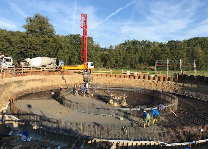 Neubau einer Kläranlage, Grafenwiesen