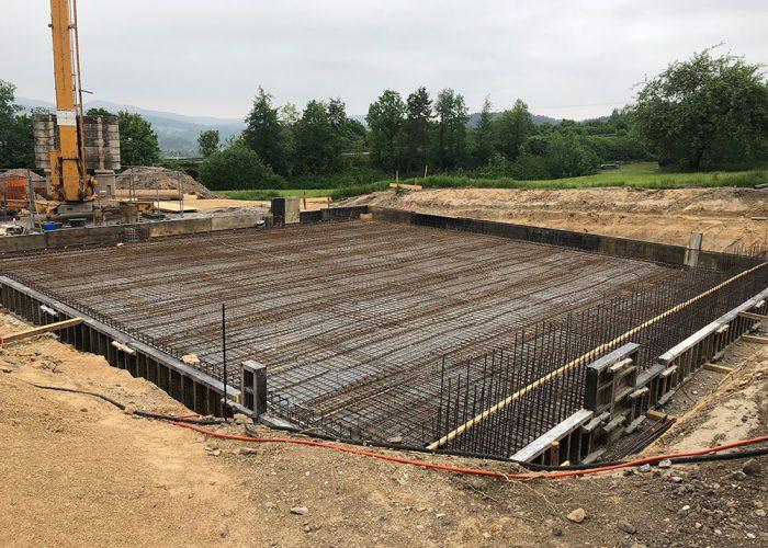 Neubau einer Maschinenhalle, Viechtach