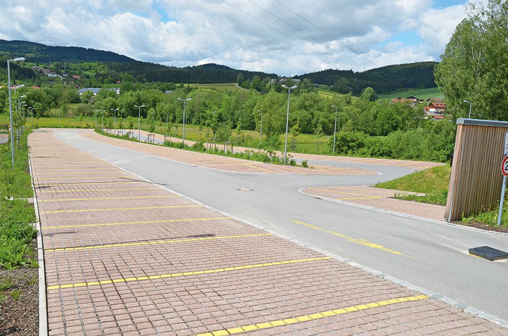 Parkplatz, Rhode & Schwarz, Teisnach