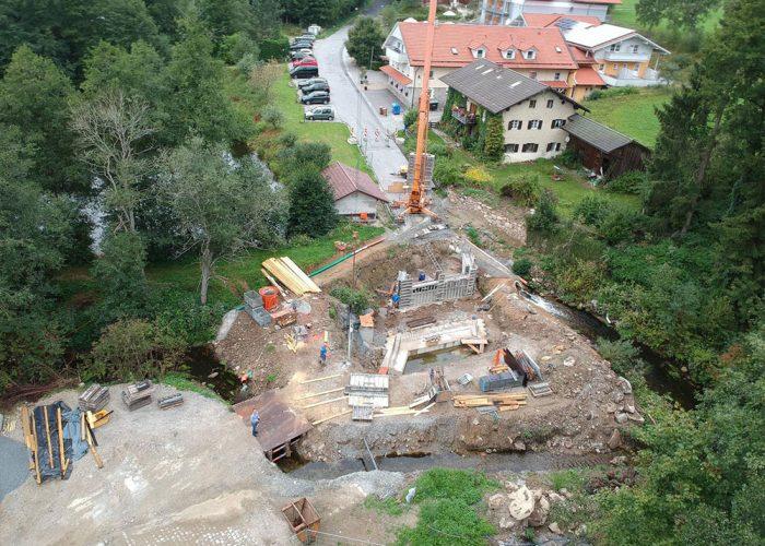 Neubau einer Bruecke - Achslach